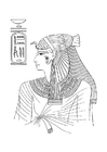 Coloring pages Egyptian woman