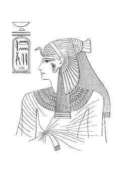 Coloring page Egyptian woman