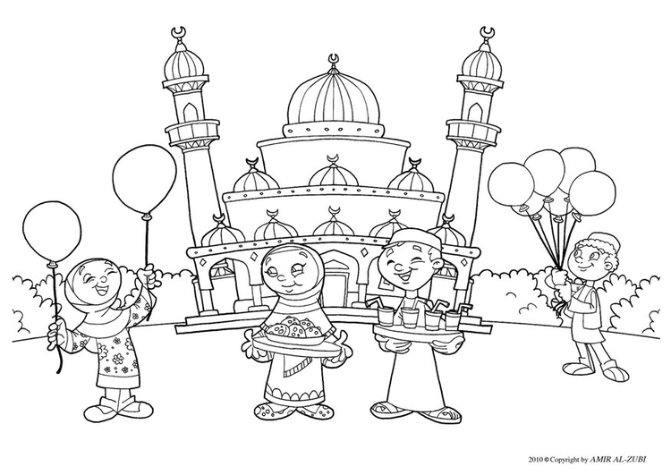 Coloring page Eid ul-Fitr