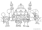 Coloring pages Eid ul-Fitr