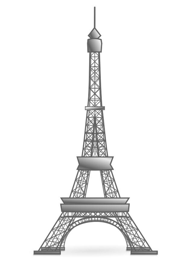 Coloring Page Eiffel Tower France Free Printable