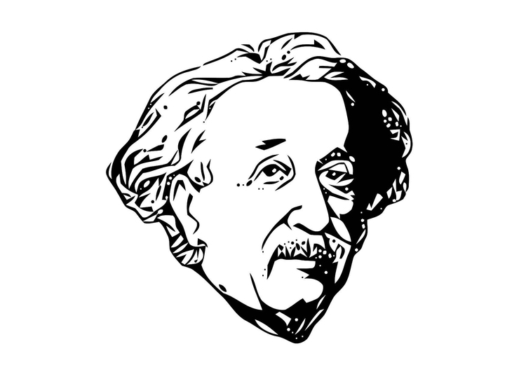 Coloring page Einstein