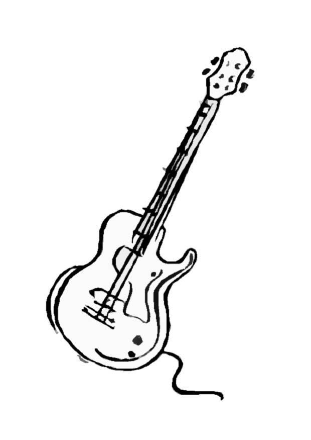 Click the Electric Guitar coloring page to view printable version.