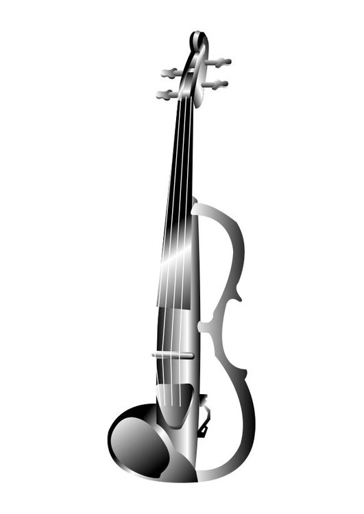 Coloring page electric violin
