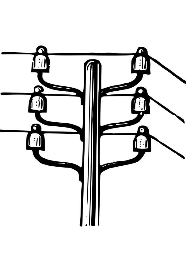 coloring page electricity pole