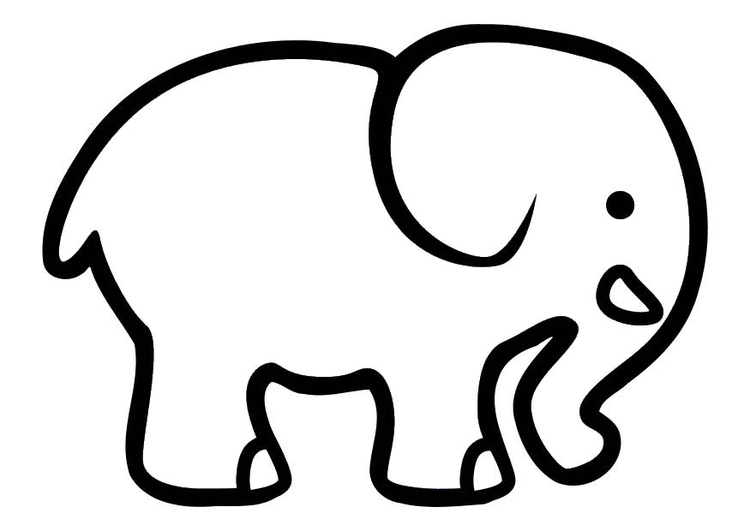 Coloring page elephant