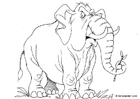 Coloring pages elephant