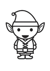 Coloring pages Elf