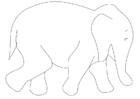 Coloring page eliphant