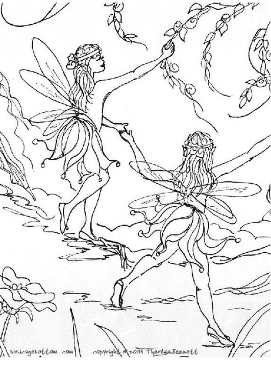 coloring page elves img 5757 images