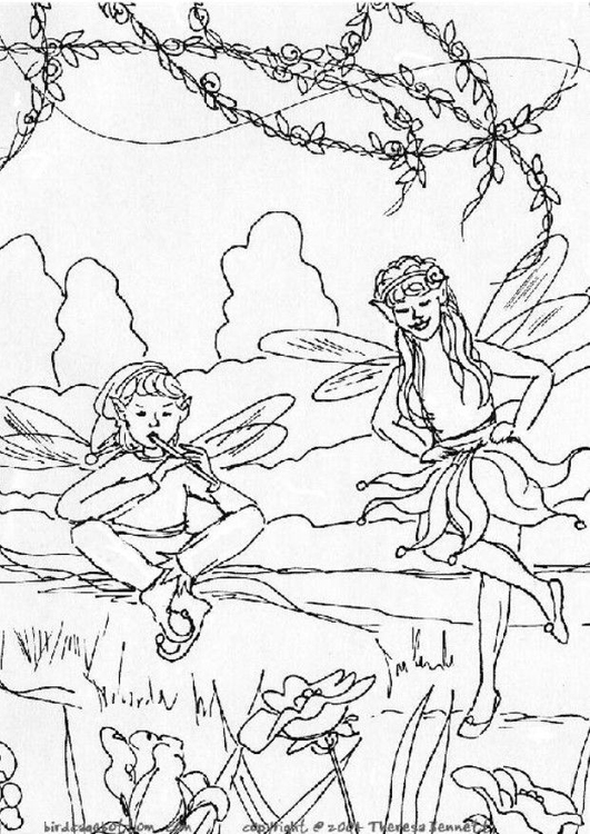 Coloring page elves
