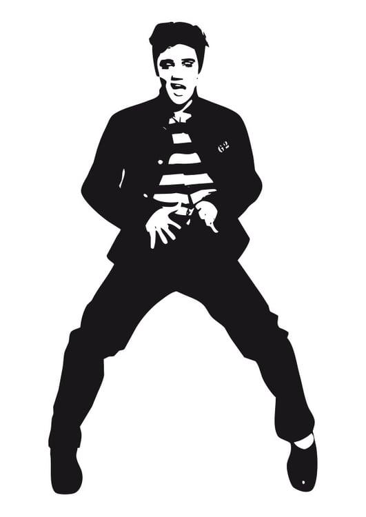 Coloring page Elvis Presley img 24633