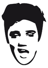 Coloring pages Elvis Presley