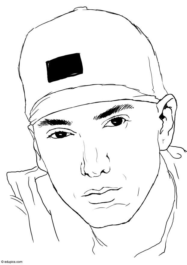 Coloring page eminem img 15392 Wiz Khalifa Coloring Pages Famous Singers Coloring Pages Eminem Logo Coloring Pages