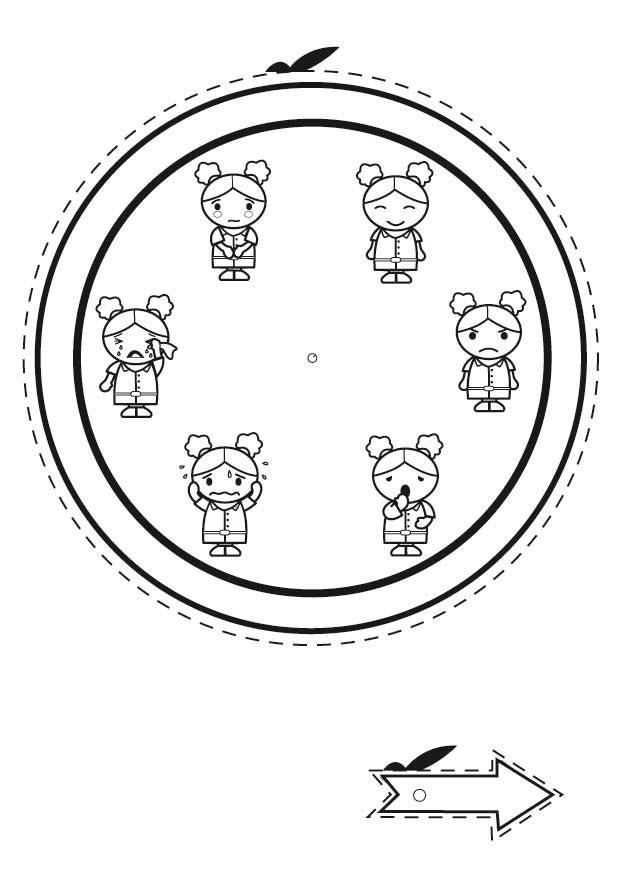 Coloring Page Emotion Clock Img 24015