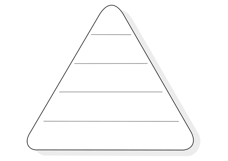 Coloring page empty food triangle