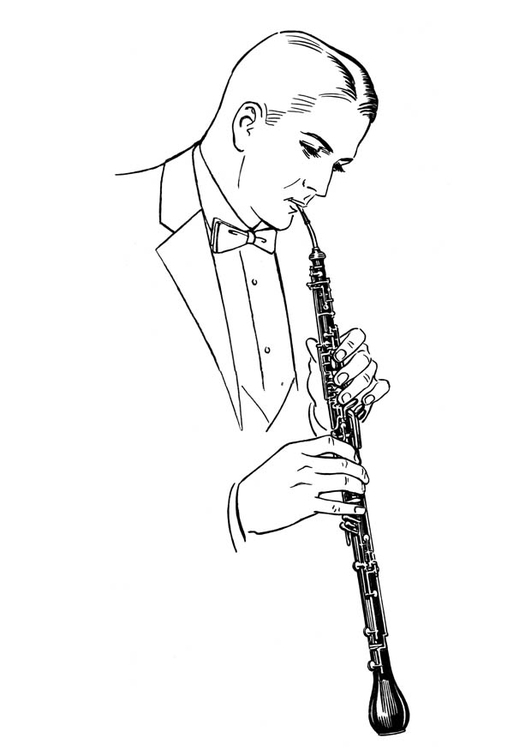 Coloring page English horn