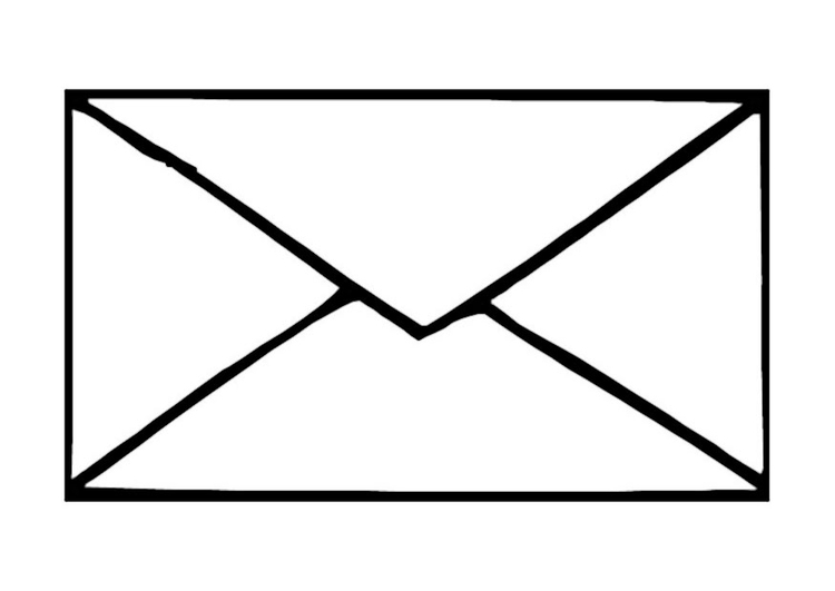 Coloring page envelope