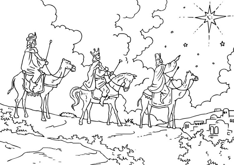 Coloring page Epiphany