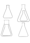 Coloring pages Erlenmeyer flasks