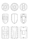 Coloring pages escutcheons