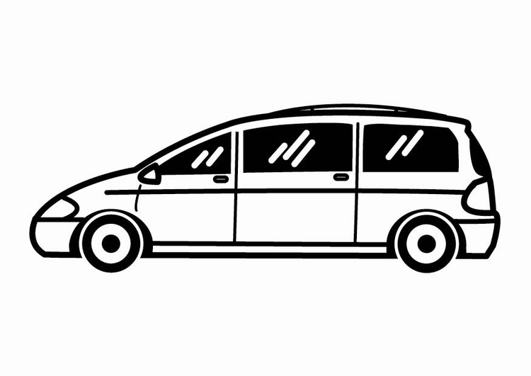Coloring page estate car