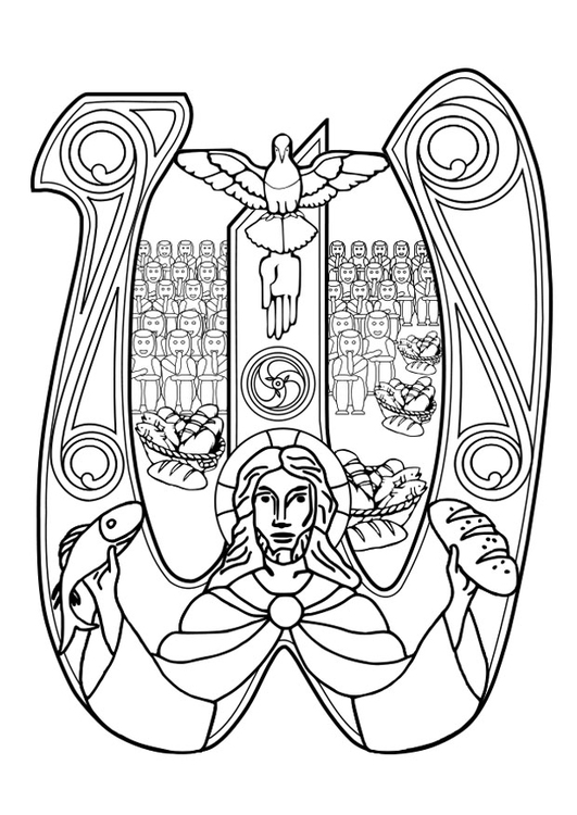 Coloring page eucharist