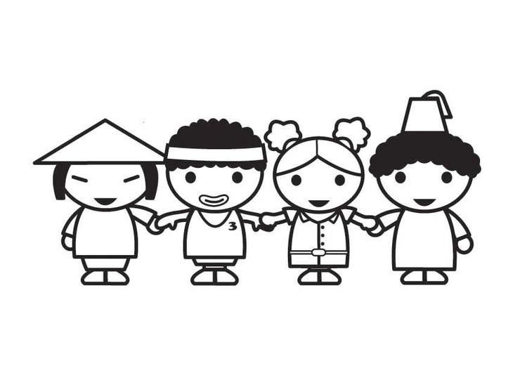 Coloring page everyone is equal