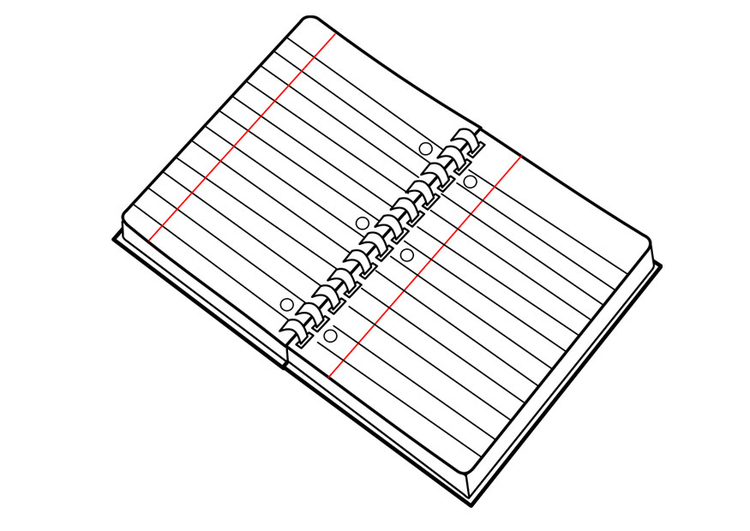 Coloring page exercise book