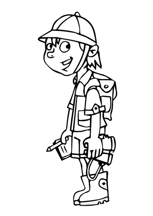Coloring page explorer