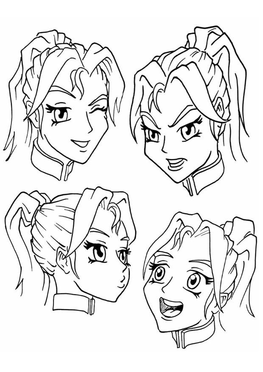 Coloring page expressions, emotions