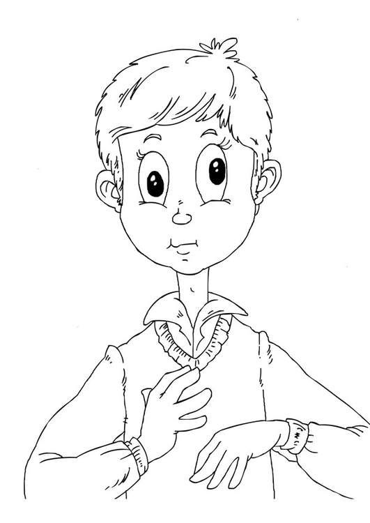 Coloring page eye disorder
