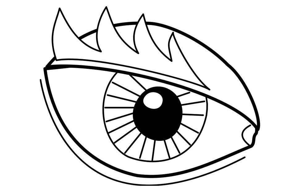 Coloring page eye img 22719