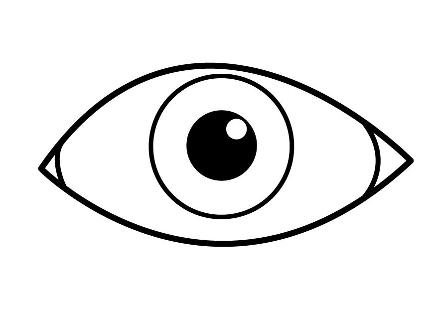 coloring page eye img 26921