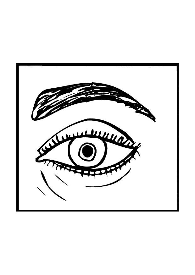 Click the An Eye coloring page to view printable version.