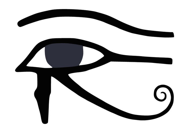 Coloring page Eye of Horus