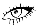 Coloring page eye