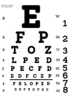 Coloring page eye test