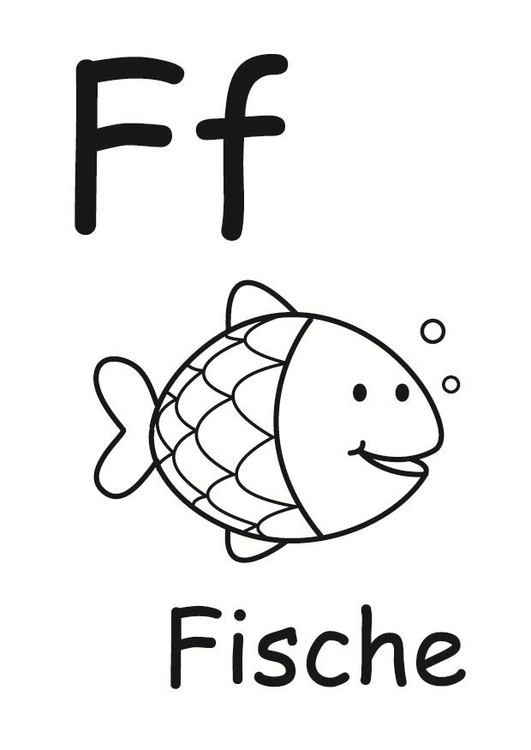 Coloring page f