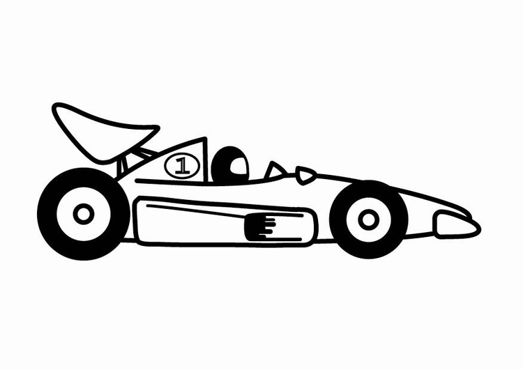Coloring page F1 racing car