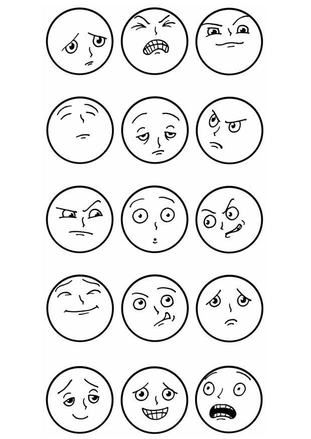 Coloring Page Facial Expressions Free Printable Coloring
