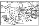 Coloring pages factories - pollution
