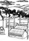 Coloring pages factory - pollution
