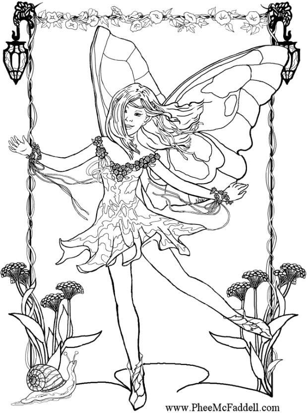 Coloring page fairy - img 6904.