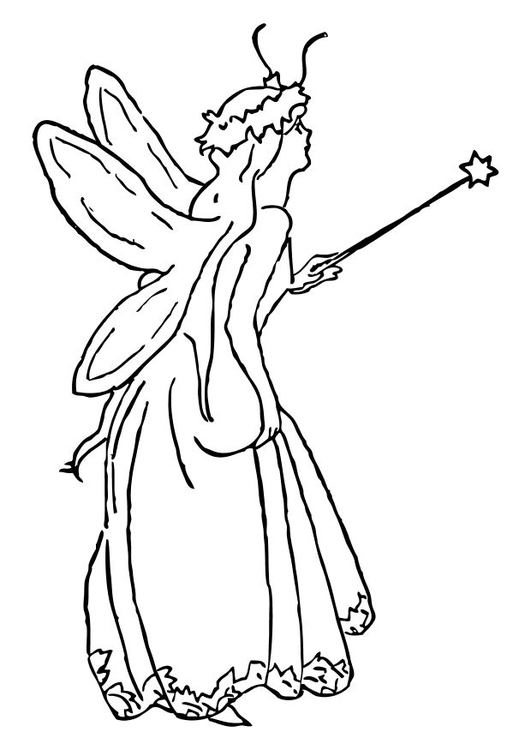 Coloring page fairy