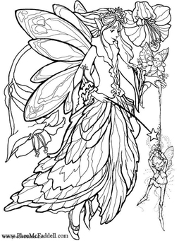 Coloring page fairy dust
