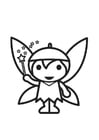 Coloring pages Fairy - Elf