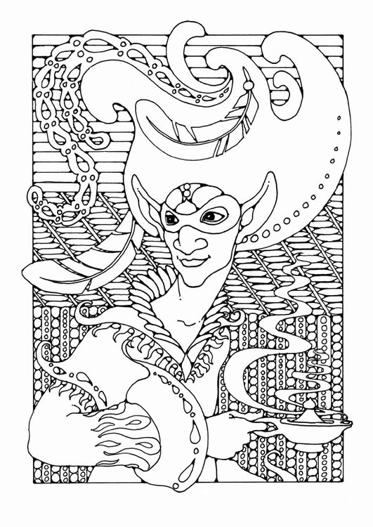 Coloring page fairy tale character