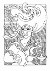 Coloring pages fairy tale character