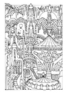 Coloring pages fairy tale city